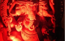 Ganesh-in-a-radiant-mood,-Jaipur,-Rajasthan,-February-2010